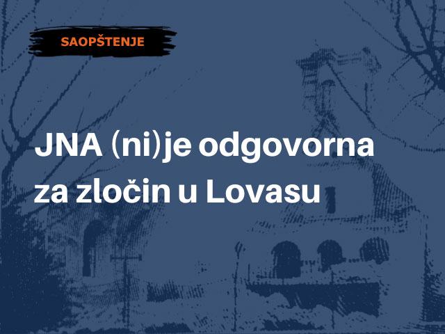 JNA (ni)je odgovorna za zločin u Lovasu