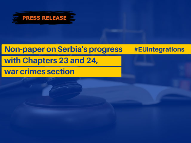 The European Commission's Non-Paper on the State of Play regarding Chapters 23 and 24 for Serbia: To overcome the legacy of the past, it is necessary to improve regional cooperation