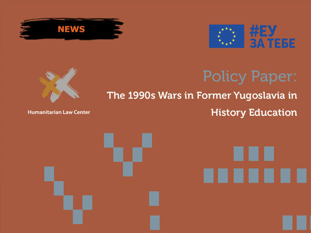 Policy Paper: The 1990s Wars in Former Yugoslavia in History Education