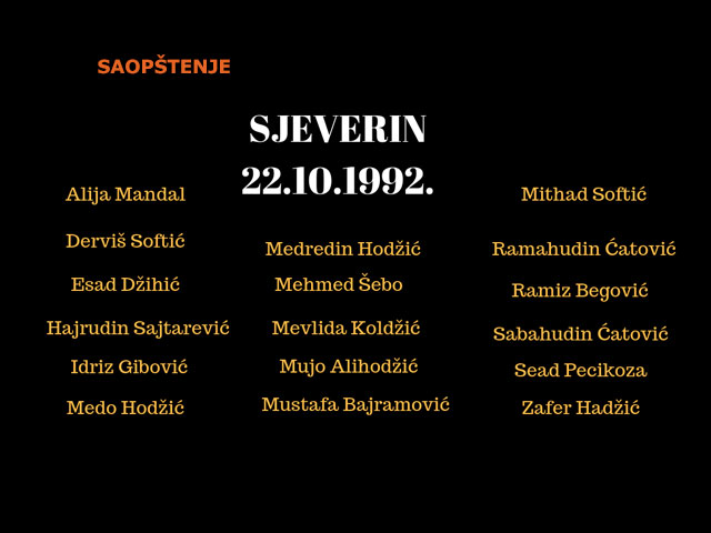 Sjeverin, 26 godina posle: traganje za istinom, pravdom i priznanjem se nastavlja