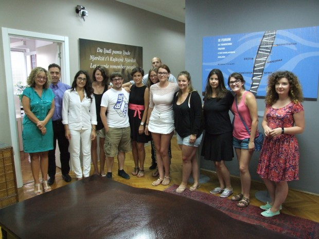 "Students of the ""Hands on the Balkans"" Programme Visit HLC"