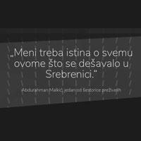 """(srpski) Prvi digitalni narativ Fonda za humanitarno pravo – """"Deportacija izbeglica iz Srebrenice"""""""